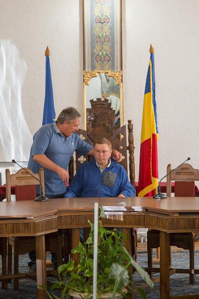 Meeting with our friend Marius Ursaciuc, (Mayor of Gura Humorului) - June, 2016