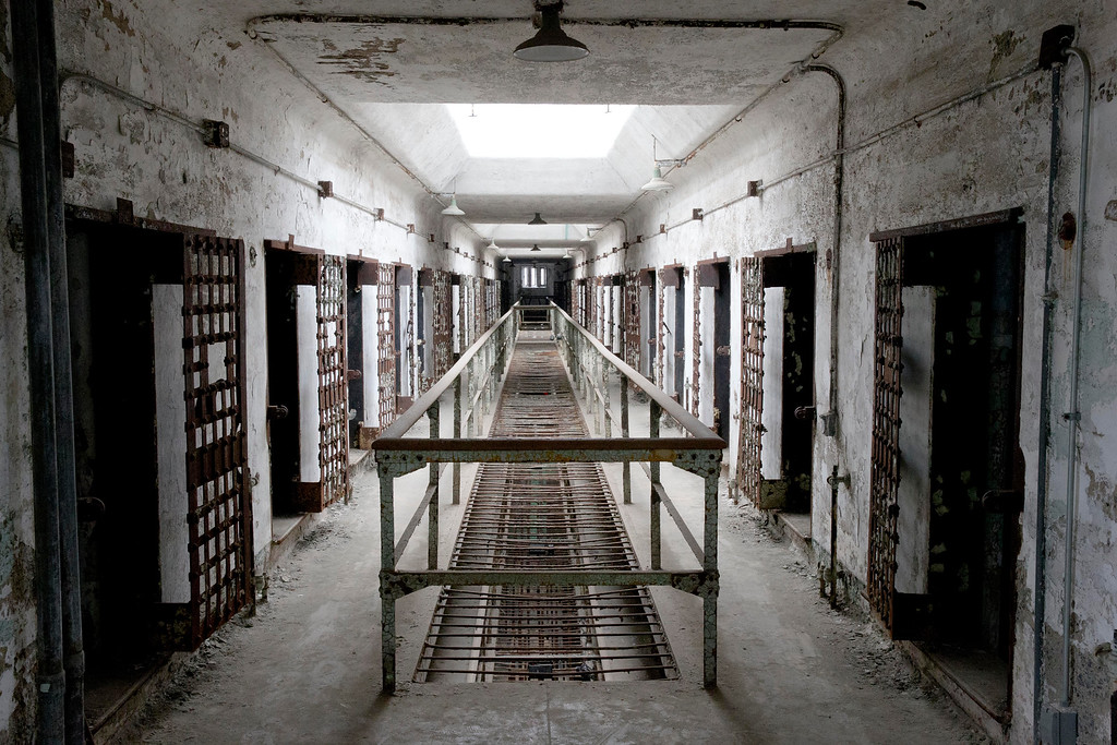 . This Oct. 13, 2014, photo shows cellblock 12 at Eastern State Penitentiary in Philadelphia. The penitentiary took in its first inmate in 1829, closed in 1971 and reopened as a museum in 1994.  (AP Photo/Matt Rourke)