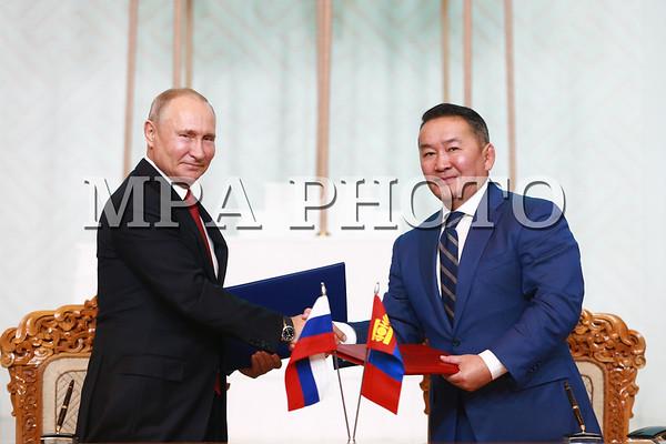 ОХУ-ын Ерөнхийлөгч  Владимир Владимирович Путин Монгол Улсад албан ёсны айлчлал хийж байна