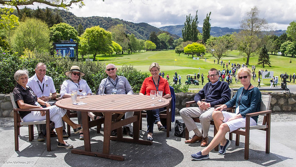 The mayor of Upper Hutt, Wayne Guppy (2nd from right) with other dignatories & friends on the final day of the Asia-Pacific Amateur Championship tournament 2017 held at Royal Wellington Golf Club, in Heretaunga, Upper Hutt, New Zealand from 26 - 29 October 2017. Copyright John Mathews 2017.   www.megasportmedia.co.nz