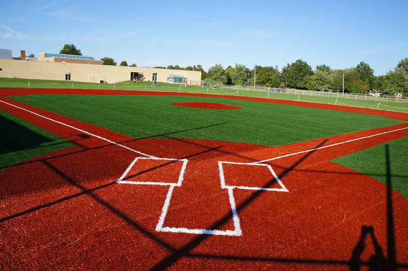 Installation of artificial turf on Lutheran West baseball field - September 2012