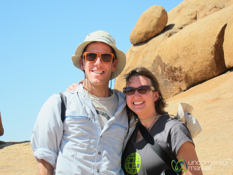 Dan and Audrey at Spitzkoppe, Namibia