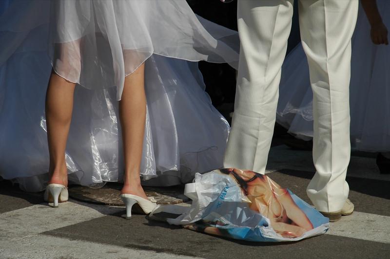 Wedding Couple's Legs - Almaty, Kazakhstan
