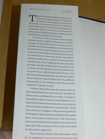 Sep 19 Thu 2013 DEMOS: Common Credo: The Path Back to American Success (WW Norton), John E. Schwarz