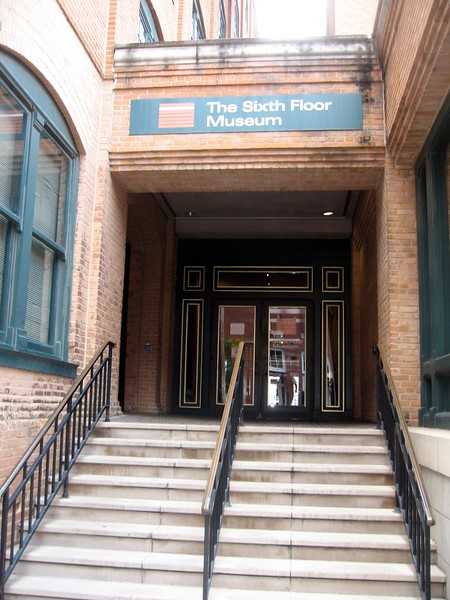 Entrance to the Sixth Floor Museum, in the former Texas School Book Depository