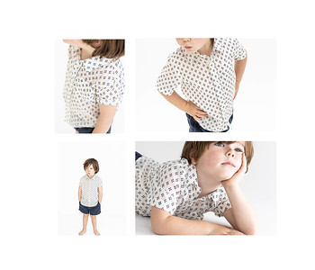 Madras Made summer shirts for boys - studio product and child model photo shoot 01172018