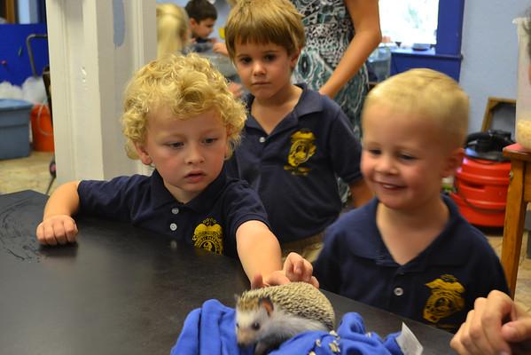 PreK visits the Biology Classroom