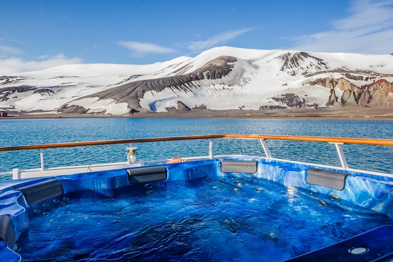 Hot tub on Antarctica Expedition ship