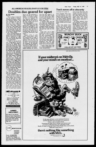 Daily Trojan, Vol. 90, No. 63?, May 15, 1981