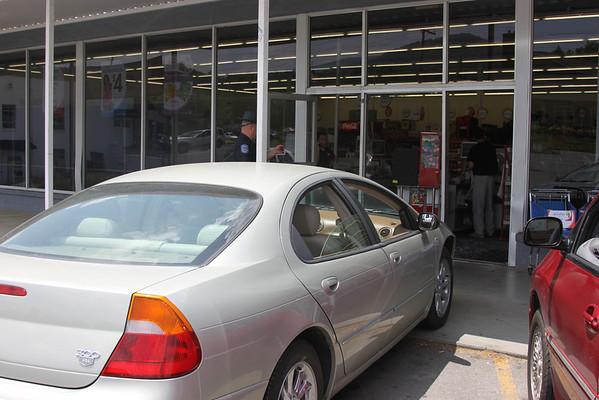 Driver Runs into Family Dollar - June 2010