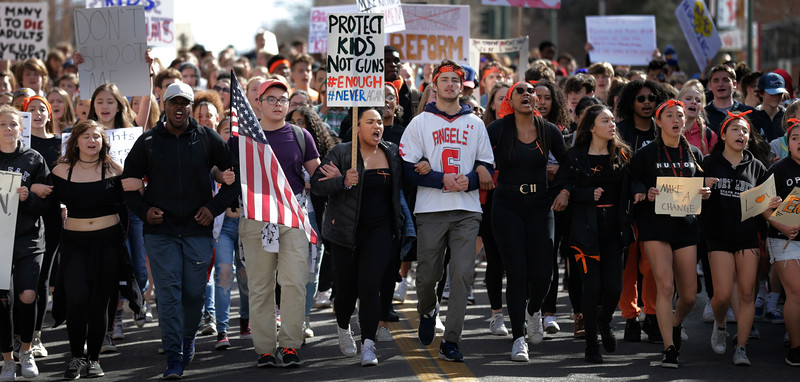 East High School Gun Protest Walkout