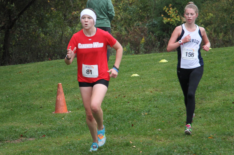 Rachel White runs in the Big South Cross Country Championship