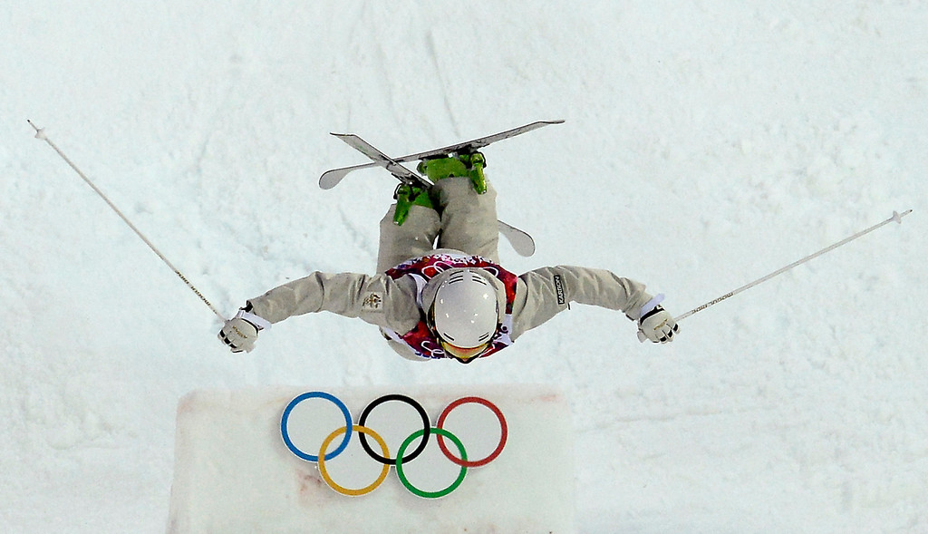 . Australia\'s Matt Graham competes in the Men\'s Freestyle Skiing Moguls qualifications at the Rosa Khutor Extreme Park during the Sochi Winter Olympics on February 10, 2014.         AFP PHOTO / FRANCK FIFE/AFP/Getty Images