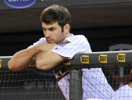 """. <p>4. JOE MAUER <p>You�d be �irritable� too if you had to watch the Twins every night. (unranked) <p><b><a href=\'http://www.twincities.com/twins/ci_24073229/minnesota-twins-manager-ron-gardenhire-has-stopped-asking\' target=\""""_blank\""""> HUH?</a></b> <p>    (AP Photo/Jim Mone)"""