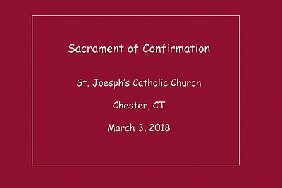 Confirmation St Joseph's 3-3-2018