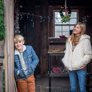 Brown Family Holiday Portraits at The Homestead at Miller Road