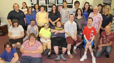Exercising with Access Services, LIFE Program, Schuylkill Avenue, Tamaqua (5-27-2014)