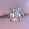 3.76ctw Emerald Cut Diamond Ring, by Leon Mege GIA H VS 0
