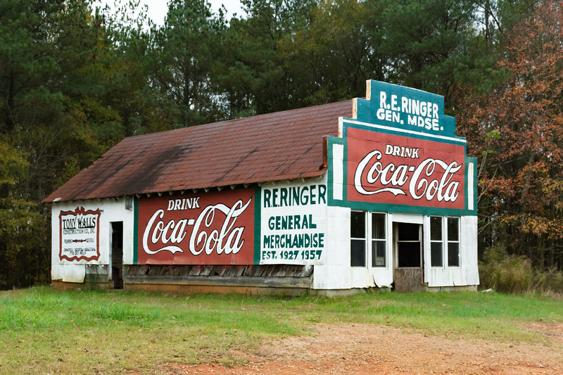 GA, Roopville - Coca-Cola Wall Sign