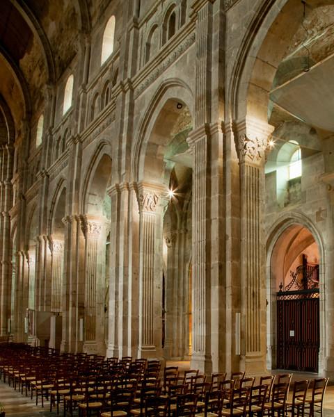 Autun, Saint Lazarus Cathedral Nave Elevation