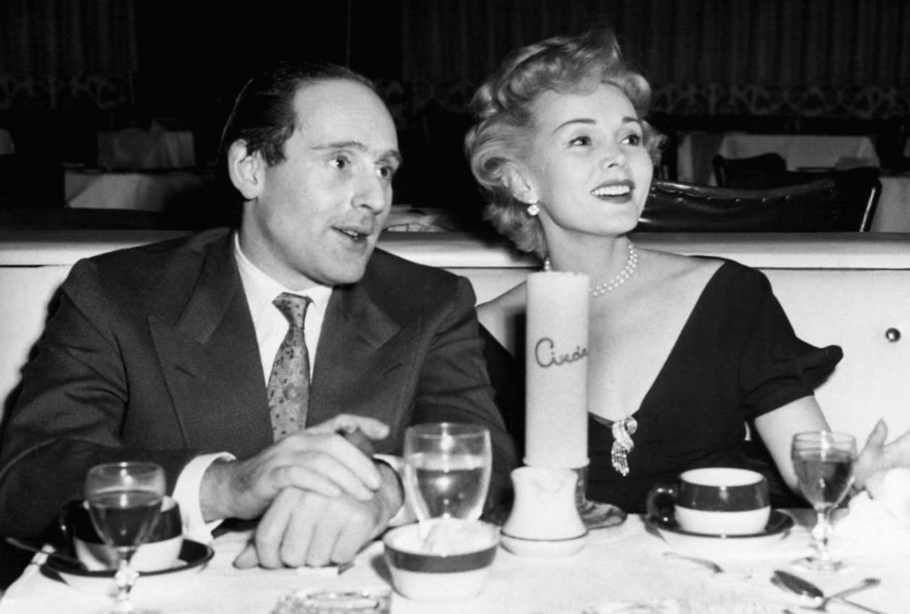 . Zsa Zsa Gabor joins Los Angeles businessman James Wolfe they dine  Dec. 24, 1953 at H.D. Hover\'s nightclub , Ciro\'s in Los Angeles.   (AP Photo)