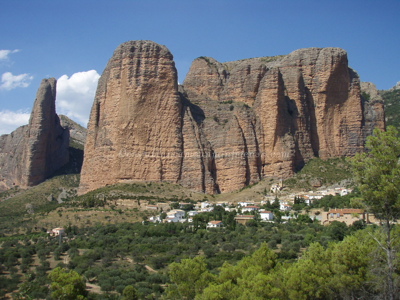 Rock formation at Mallos de Rigos near Huesca