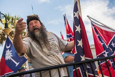 Confederate Flag Raising