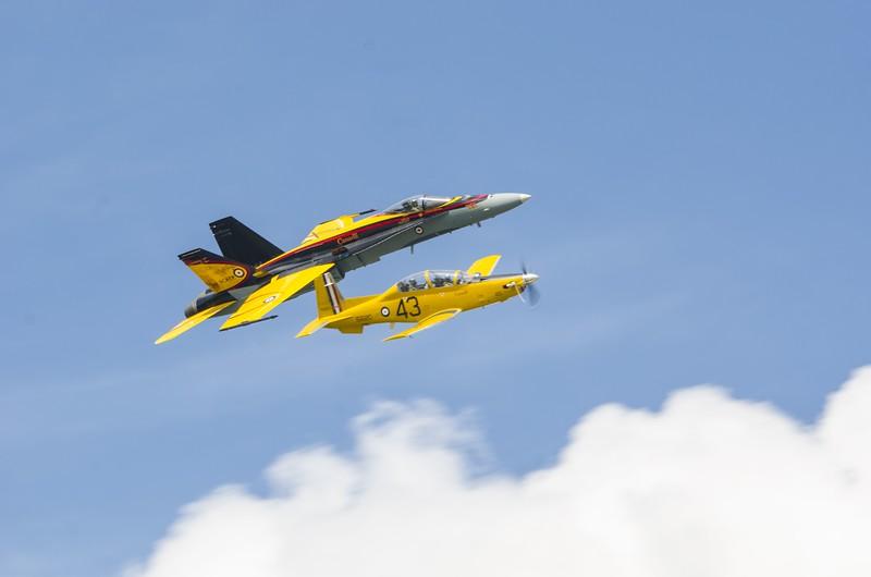 Harvard II and Hornet