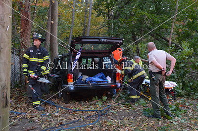 20131028 - East Norwich - Car Vs Tree w/ Entrapment