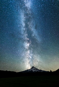 Milky Way Over Mt Hood