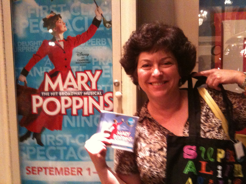 2011/9/1 – Lisa said this is the best Broadway play she has seen at the Capital Theater. It was opening night and I'll admit, it was pretty amazing, especially the staging. Lisa was so excited she had to have the soundtrack and the  Supercalifragilistic bag.