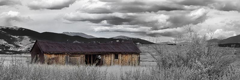 Cline Ranch Barn in the Summer, Colorado