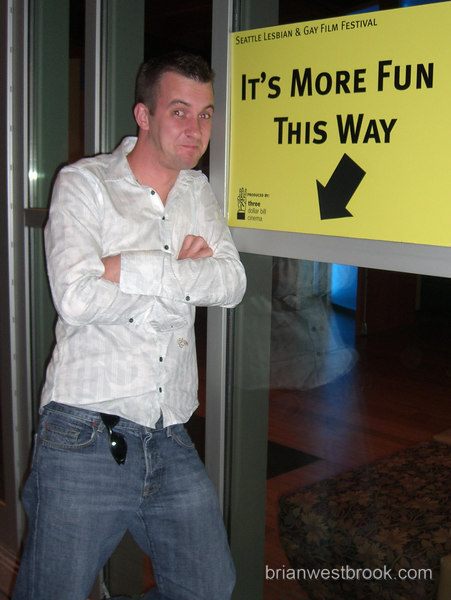 BMW poses strategically at the closing night GALA of the Seattle Lesbian & Gay Film Festival 22 October 2006.