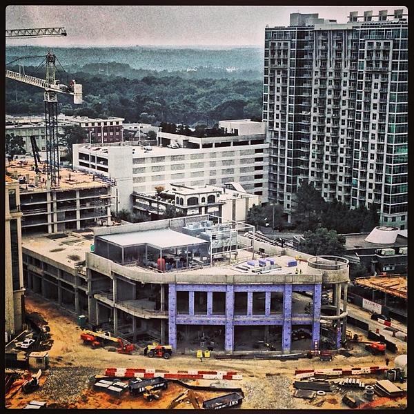 #BuckheadAtlanta construction view from above #buckhead #atl