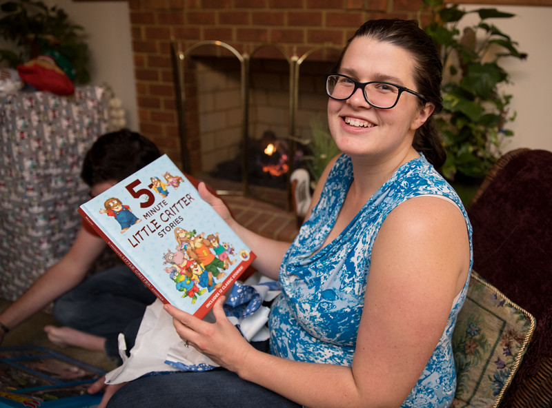 Holly with Little Creatures Book.jpg