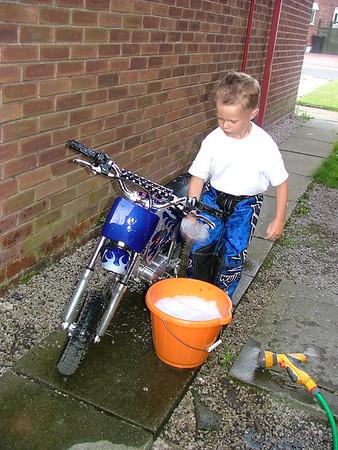 July 2005 George and his Bike