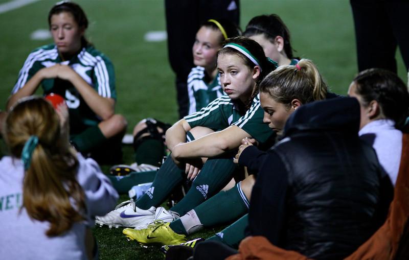 Reagan Quigley, Maddie Jones  Woodinville High Girls Varsity Soccer verse Skyline High October 20, 2011, ©Neir