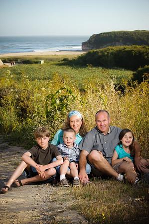 Chelsea + John = Nathan > Sadie > Seth - Family Photography, 4-Mile Beach, Santa Cruz, California