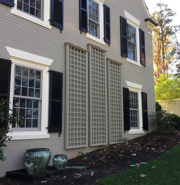 91 - Charlottesville VA - Custom Manhassett Lattice Panels