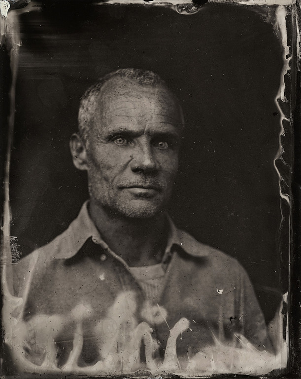 . Flea poses for a tintype (wet collodion) portrait at The Collective and Gibson Lounge Powered by CEG, during the 2014 Sundance Film Festival in Park City, Utah. (Photo by Victoria Will/Invision/AP)