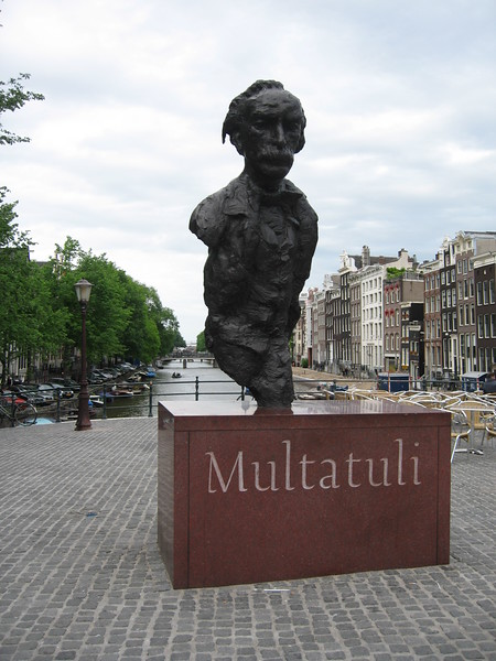 Statue of Multatuli, pen name of Eduard Douwes Dekker, a Dutch satirical novelist