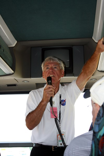 Our guide, Chuck Kleinschmidt, retired from Boeing after a 45-year career at NASA and now volunteers to lead tours.
