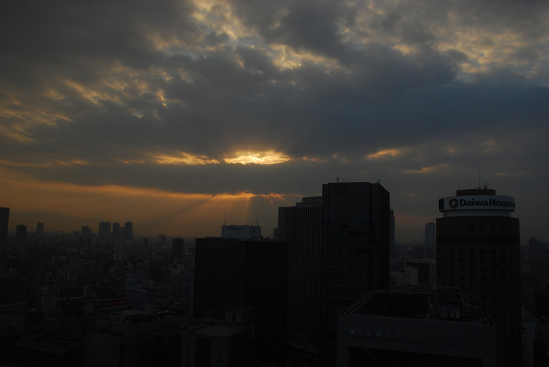 Morning skyline in Osaka  (C) 2009 Brian Neal