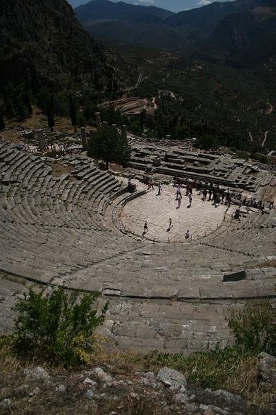 Delphi, Greece; Theater and Temple of Apollo