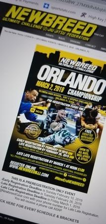 Newbreed Championship Orlando Florida March 2, 2019