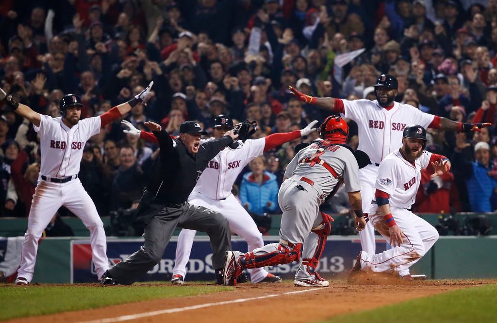""". <p>5. ST. LOUIS CARDINALS <p>Just figured out that walking David Ortiz would have been a swell strategy. (unranked) <p><b><a href=\'http://www.twincities.com/sports/ci_24425088/2013-world-series-it-just-wasnt-cardinals-night\' target=\""""_blank\""""> HUH?</a></b> <p>     (AP Photo/Elise Amendola)"""