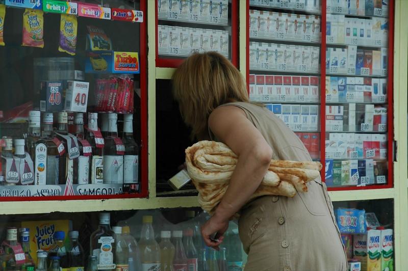 Woman Buying Tonis Puri - Tbilisi, Georgia
