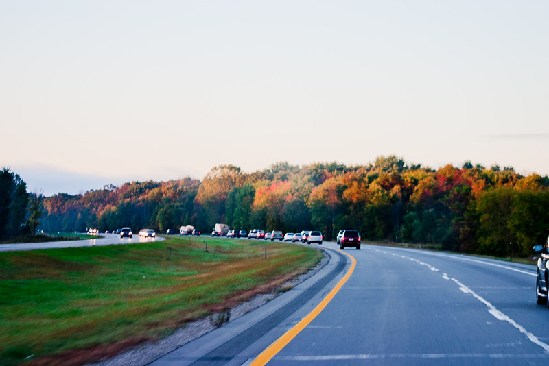 Fall on the Road in Michigan