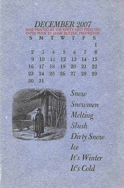 December, 2007, The Empty Nest Press