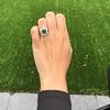 4.38ctw Art Deco Russian Demantoid & Diamond Cluster Ring 21